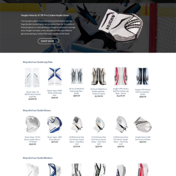 Jason Shaffer Group LLC Website Design for Goalies Plus